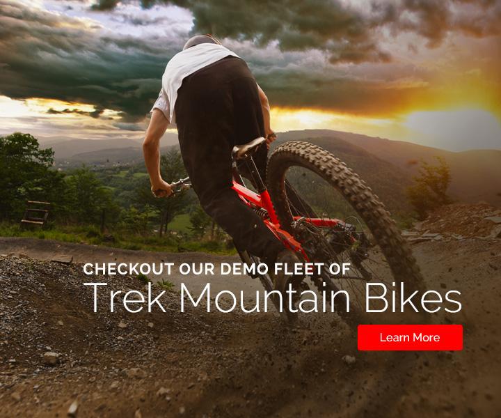 Checkout our demo fleet of Trek mountain bikes